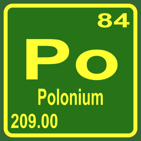 po: Periodic Table of Elements - Polonium Illustration