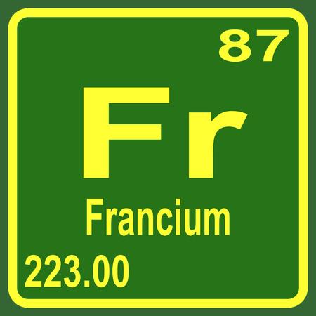 Periodic Table of Elements - Francium Illustration