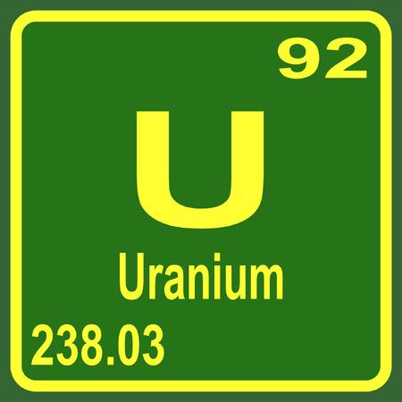 Periodic Table of Elements - Uranium Illustration