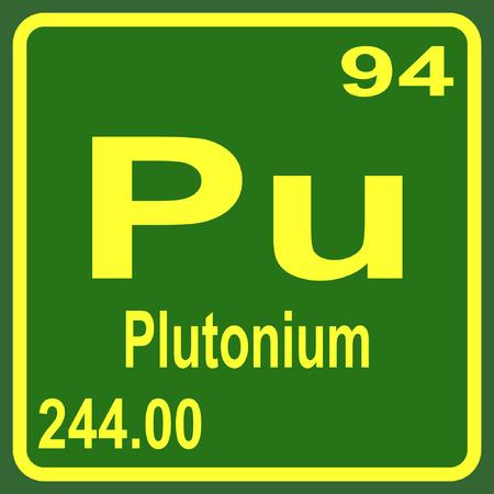 plutonium: Periodic Table of Elements - Plutonium Illustration