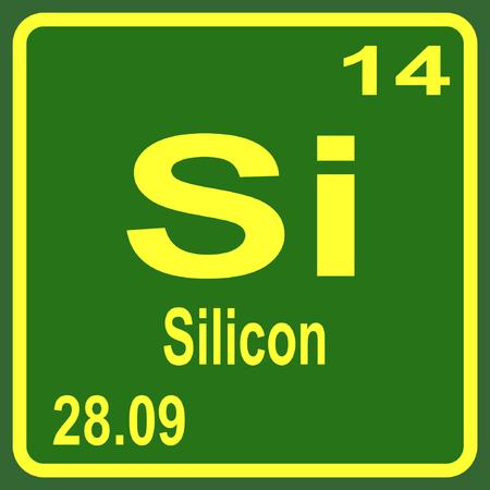 Periodensystem der Elemente - Silicon Vektorgrafik