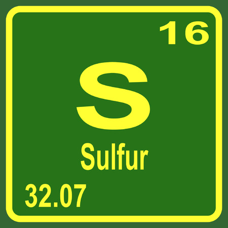 Periodic Table of Elements - Sulfur Illustration