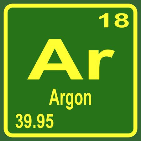 periodic table: Periodic Table of Elements - Argon Illustration