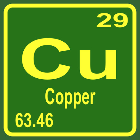 Periodic Table Of Elements Copper Royalty Free Cliparts Vectors
