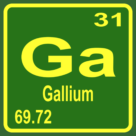 Periodic Table Of Elements Gallium Royalty Free Cliparts Vectors