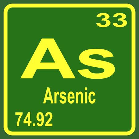 Periodic Table of Elements - Arsenic Illustration