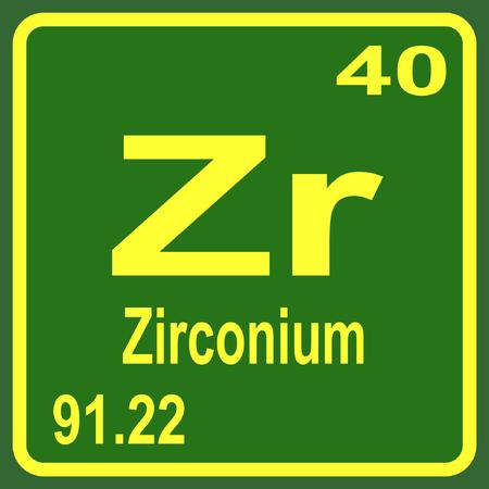 Periodic Table Of Elements Zirconium Royalty Free Cliparts