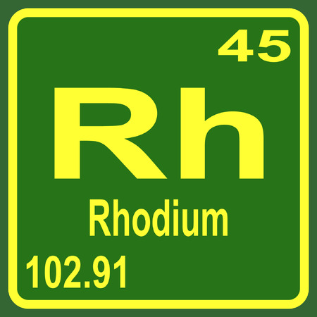 periodic table of the elements: Periodic Table of Elements - Rhodium Illustration