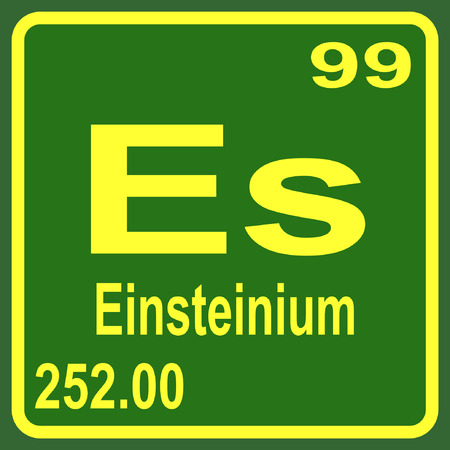 Periodic Table Of Elements Einsteinium Royalty Free Cliparts