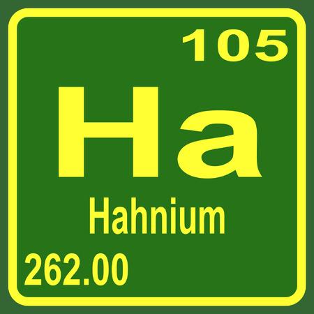 periodic: Periodic Table of Elements - Hahnium