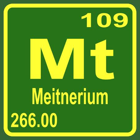 periodic: Periodic Table of Elements - Meitnerium Illustration