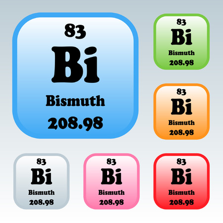 bismuth: The Periodic Table of the Elements Bismuth Illustration