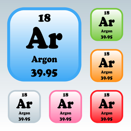 argon: The Periodic Table of the Elements Argon Illustration