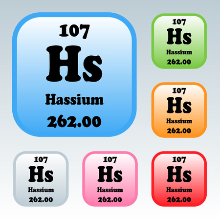 The Periodic Table of the Elements Hassium Illustration