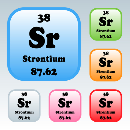 The Periodic Table Of The Elements Strontium Royalty Free Cliparts