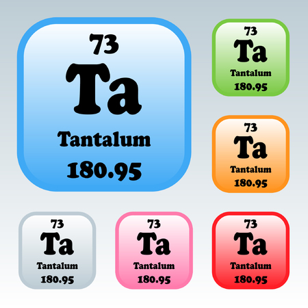 The Periodic Table Of The Elements Tantalum Royalty Free Cliparts