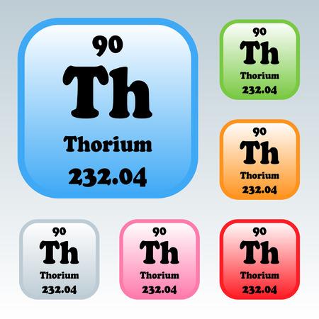 thorium: The Periodic Table of the Elements Thorium Illustration