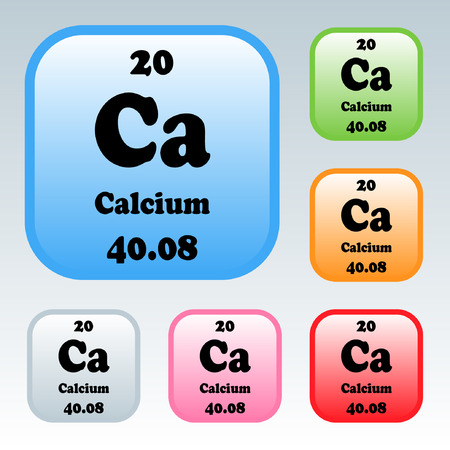 The Periodic Table Of The Elements Calcium Royalty Free Cliparts