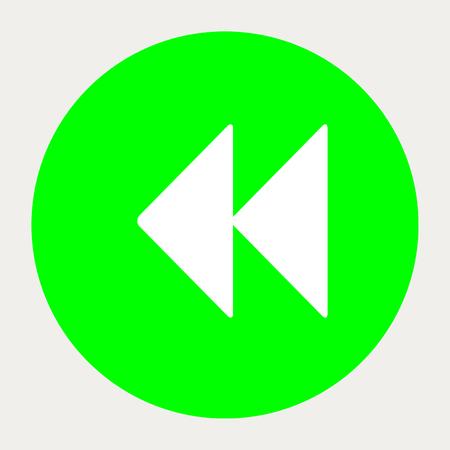 backward: Backward navigation button.Vector illustration. Illustration