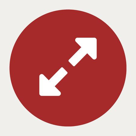 expand: Expand navigation button.Vector illustration.