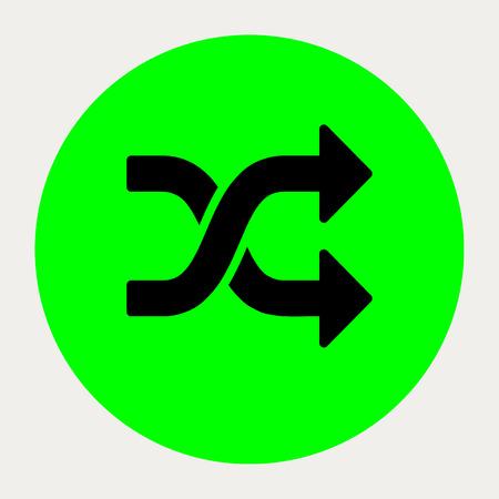 random: Random navigation button.Vector illustration.