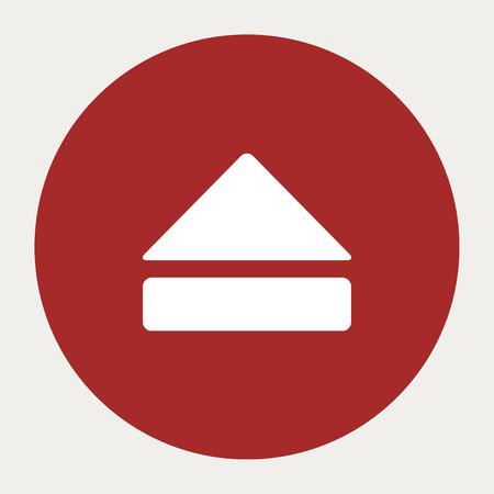 eject: Eject navigation button.Vector illustration. Illustration