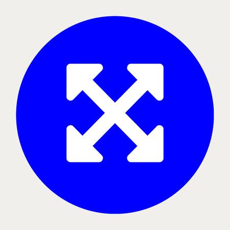 alt: Arrows Alt navigation button.Vector illustration.
