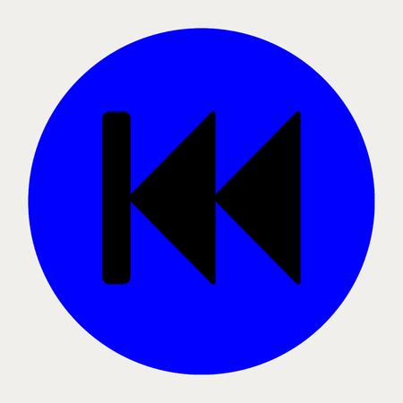 backward: Fast Backward navigation button.Vector illustration. Illustration