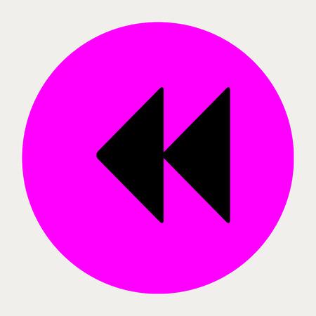Backward navigation button.Vector illustration.