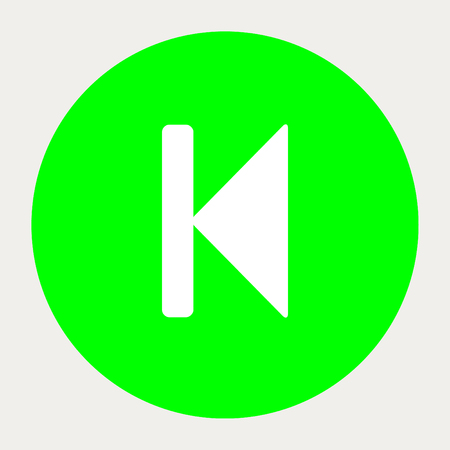 backward: Step Backward navigation button.Vector illustration. Illustration