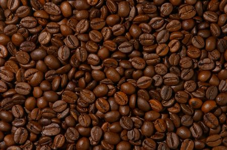 morn: coffee beans for background usage Stock Photo