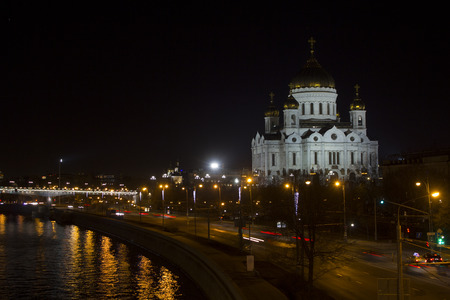 street creed: Cathedral the Cathedral of Christ the Savior in Moscow