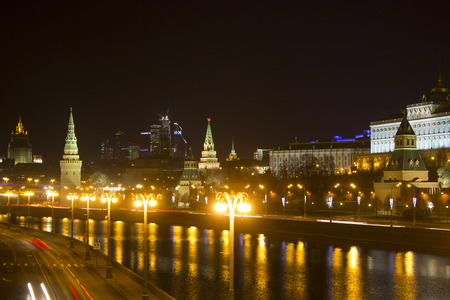 embankment: Kremlin embankment. Russia. Moscow Editorial