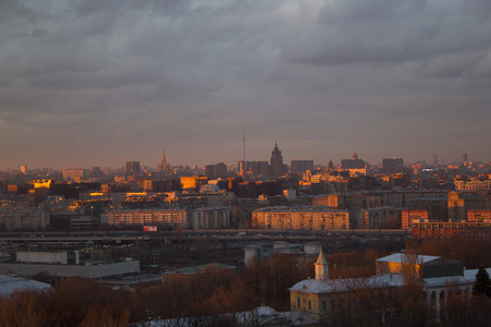 moscow city: Landscape Moscow city, Moscow, Russia