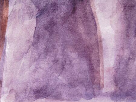 Lilac colorful watercolor background. Multi-colored brush strokes.