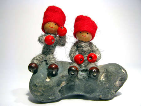 protectors: Two Christmas Tomte dwarfs from Scandinavia, protectors of the home