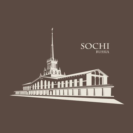 Hafen von Sotschi Vektorgrafik