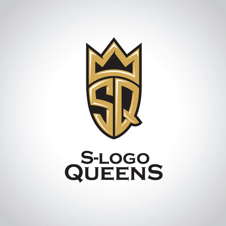 Reines du logo S. lettres SQ