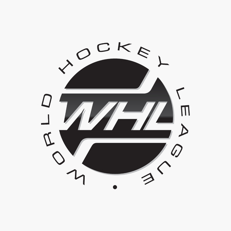 Logo hockey tournament. Hockey logo emblem vector.