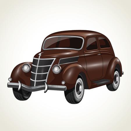 Vintage retro car 일러스트