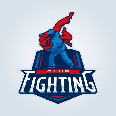Fighting . Judo sport emblem