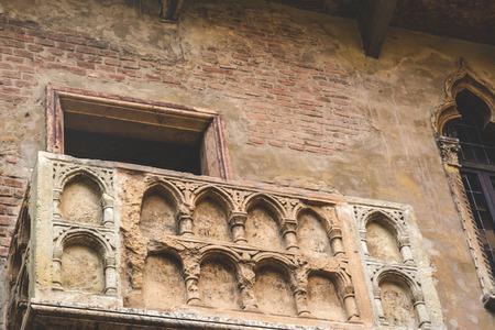 Balcony juliette in verona italy Stock Photo