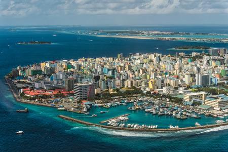 Maldivische hoofdstad van boven