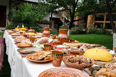 Zelfgemaakte Moldavian eten