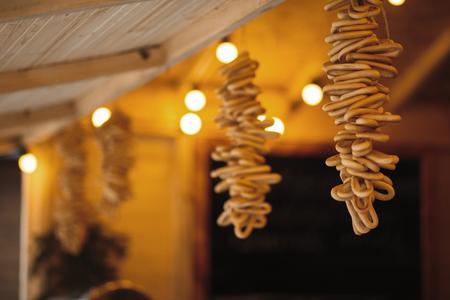 Traditional moldavian home decoration for christmas