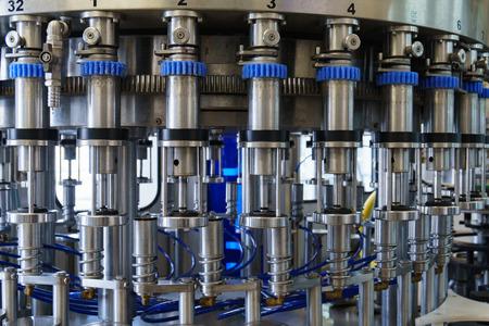 Closeup shot of wine factory equipment