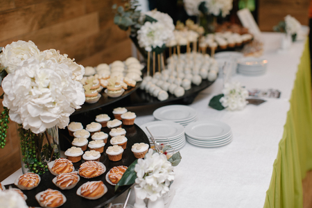 Candy bar prepared for reception