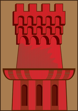 TOWER PATTERN abstract vector image of theoor structure Çizim