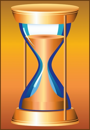 HOURGLASS PATTERN instrument for counting a certain length of time Illustration
