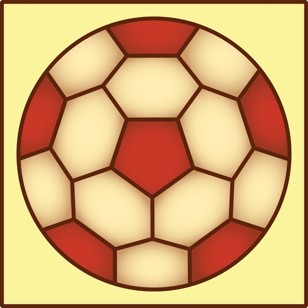 BALL PATERN color vector image of the ball for a game of football. Çizim